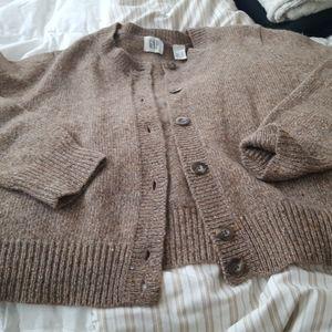 Gap tan sweater large